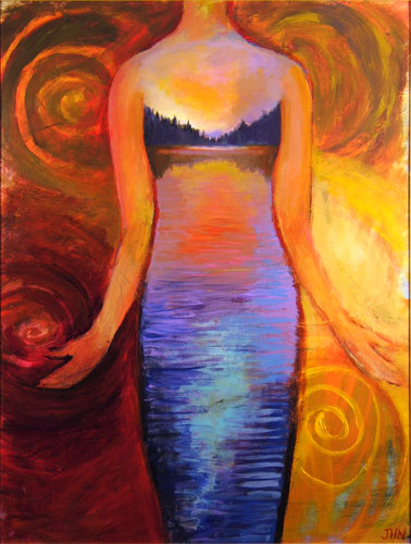 """Evening Gown"" by Jenny Hahn - JensPaintings.com"